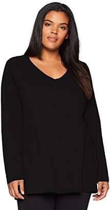 Danskin Women's Plus Size Essential Long-Sleeve T-Shirt