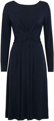 Wallis Navy Cross Front Wrap Midi Dress