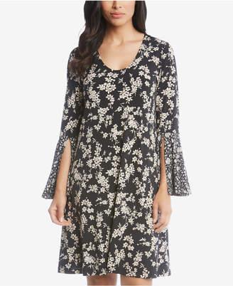Karen Kane Taylor Floral-Print Split-Sleeve Dress