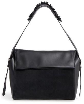 Allsaints Maya Calfskin Shoulder Bag - Black $298 thestylecure.com
