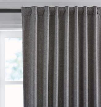 Rejuvenation Gray Wool Blackout Drapery Panel