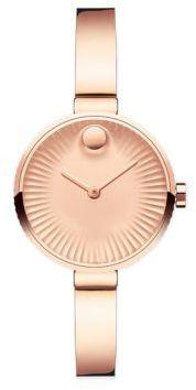 Movado Movado Edge Rose Goldtone Stainless Steel Bracelet Watch $695 thestylecure.com