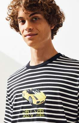 Pacsun PacSun Car Striped T-Shirt