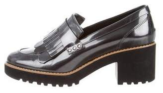 Hogan Metallic Loafer Pumps