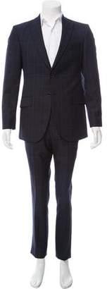 Hardy Amies Wool Plaid Suit