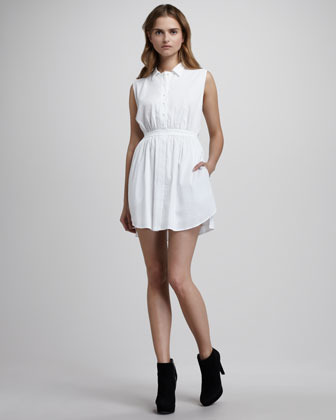 Theyskens' Theory Button-Up Dress
