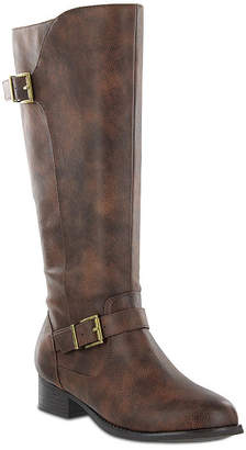 MIA AMORE Mia Amore Lolaa Womens Block Heel Zip Wide Riding Boots