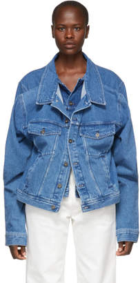 Y/Project Blue Double Front Denim Jacket