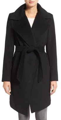 Women's Diane Von Furstenberg Wool Blend Wrap Coat $498 thestylecure.com