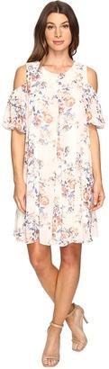Christin Michaels - Boulle Floral Cold Shoulder Dress Women's Dress $69 thestylecure.com