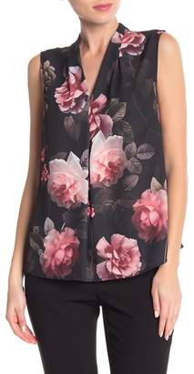 Nine West Sleeveless Floral Blouse