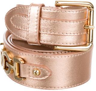 Dolce & GabbanaDolce & Gabbana Metallic Logo-Embellished Belt