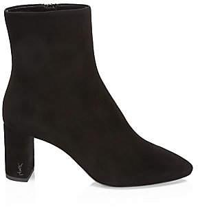 Saint Laurent Women's Lou Suede Ankle Boots