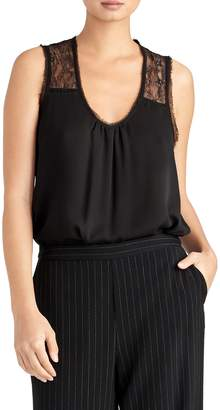 Rachel Roy Collection Lace Detail Mix Media Sleeveless Blouse