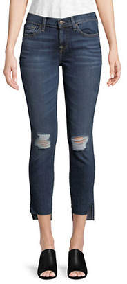 7 For All Mankind Ankle Step Hem Skinny Jeans
