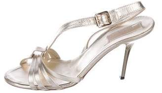 Michael Kors Metallic Slingback Sandals