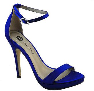 MICHAEL ANTONIO Michael Antonio Lovina Ankle-Strap Satin Platform Sandals $50 thestylecure.com