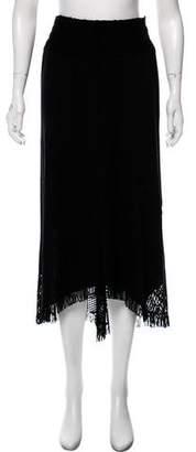 Issey Miyake Fringe Midi Skirt