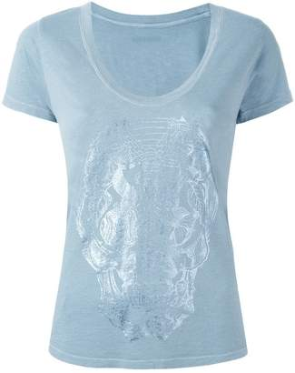 Zadig & Voltaire Zadig&Voltaire stylised skull print T-shirt
