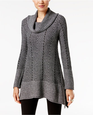 Jeanne Pierre Herringbone Tunic Sweater $70 thestylecure.com