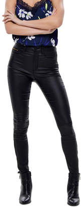 Only Royal High Waisted Coated Ankel Zip Pant