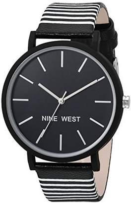 Nine West Women's Quartz Metal and Polyurethane Dress Watch
