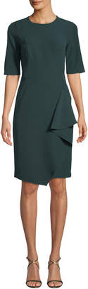 Maggy London Asymmetric Cascading Sheath Dress