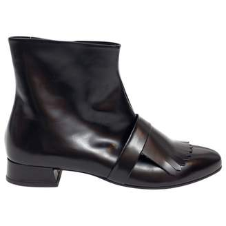 Suno Leather ankle boots