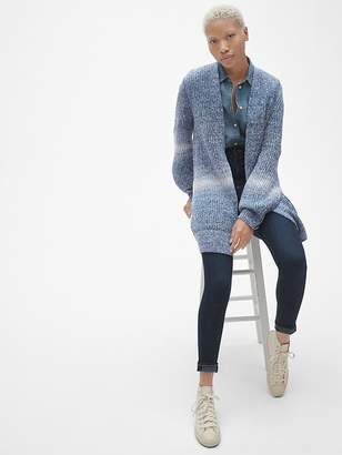 Gap Textured Open-Front Cardigan Sweater