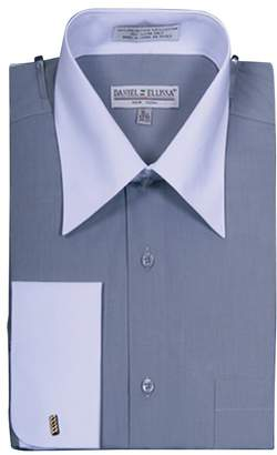 Fashionable Sunrise Outlet Men's Two Tone French Cuff Shirt - 15.5 34-35