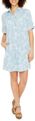 Ronni Nicole Short Sleeve Shirt Dress