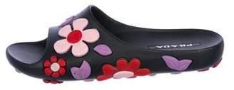 Prada Rubber Slide Sandals