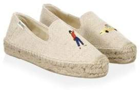 Soludos Taxi Canvas Smoking Slippers