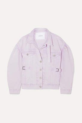 Pushbutton - Oversized Denim Jacket - Lilac
