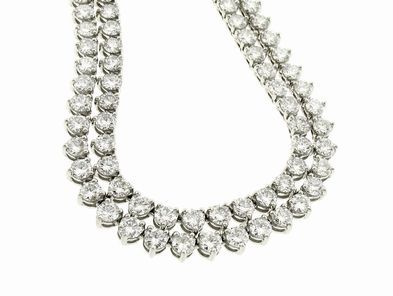 A.Link Opera Length Diamond Necklace Doubled