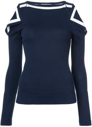 Oscar de la Renta open shoulder knitted top