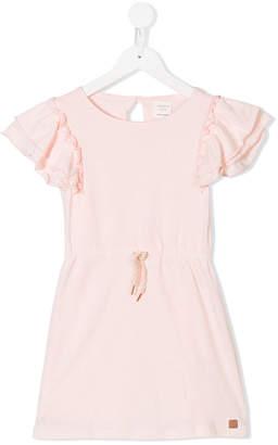 Carrèment Beau ruffled sleeves drawstring dress