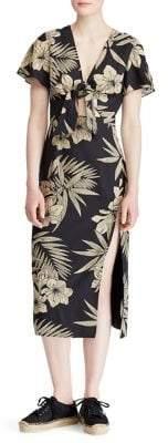 Polo Ralph Lauren Floral Faux-Wrap Dress