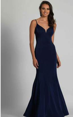 Dave and Johnny Classic Navy Gown