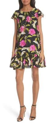 Milly Jill Large Calla Lily Shift Dress