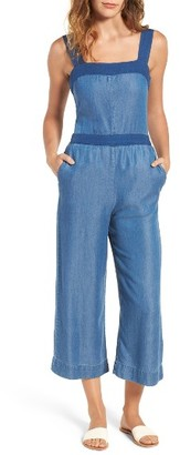 Women's Splendid Chambray Culotte Jumpsuit $198 thestylecure.com