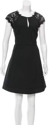 Diane von Furstenberg Maddie Lace-Paneled Dress