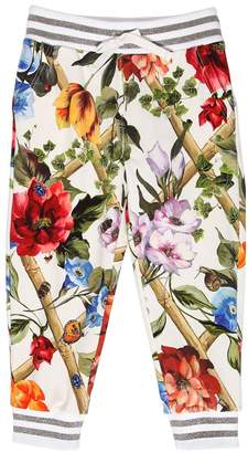 Dolce & Gabbana Floral Print Cotton Sweatpants