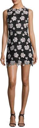 Giambattista Valli Sleeveless Floral Lace Sheath Dress