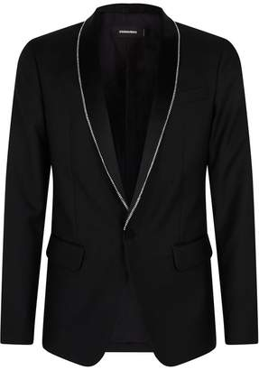DSQUARED2 London Crystal Embellished Blazer