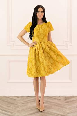 Rachel Parcell Floret Organza Dress in Hazel