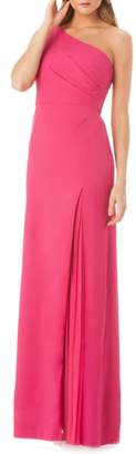 Kay Unger One-Shoulder Gown