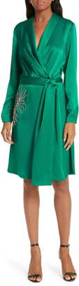 BA&SH Janeiro Satin Wrap Dress