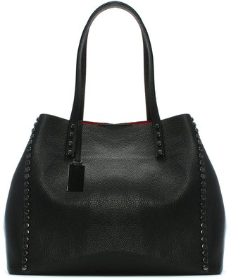 Daniel Mooch Black Tumbled Leather Studded Tote Bag