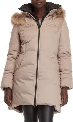Soia & Kyo Alda Real Fur Trim Down Coat